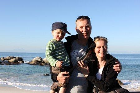 Kerstin Führer mit Familie in Südafrika