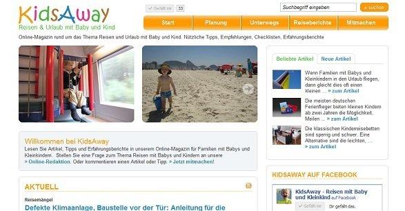 KidsAway - Reisen und Urlaub mit Baby und Kind