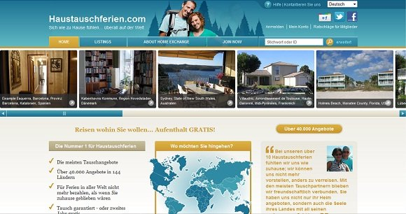 Website Haustauschferien