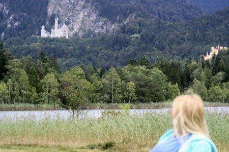 Schloss Neuschwanstein in der Ferne