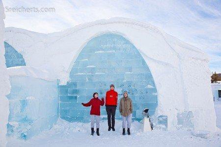 Eishotel auf dem Weg zu den Lofoten