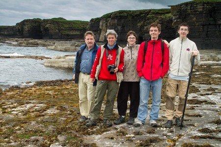 Seltenes Foto - alle 5 Reicherts zusammen in Schottland