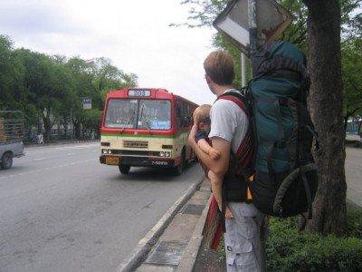 Es gibt immer einen Bus - Bangkok, Thailand © Julia Blanke