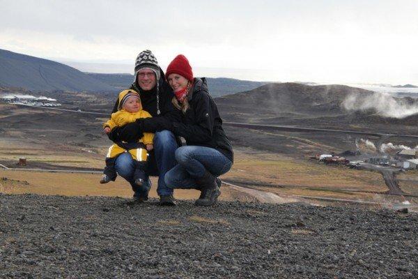 Familie Bauer im Myvatn-Gebiet, Island 2012