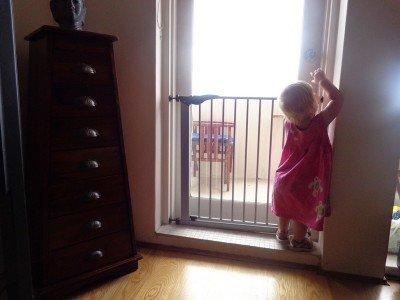 Kindersicherung am Balkon - perfekt!