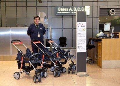 Die kostenlosen Airport-Buggys im Flughafen Hamburg sind wirklich schick © Airport Hamburg