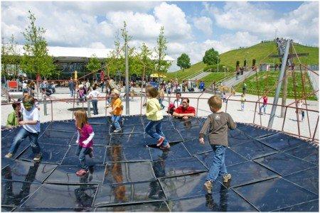Der Spielplatz im Besucherpark des Flughafens München ist ein Highlight © FMG