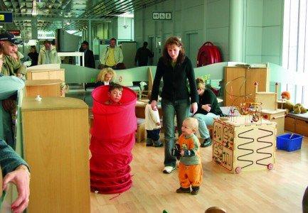Eine der Kinderspielecken im Flughafen Nürnberg © Airport Nürnberg