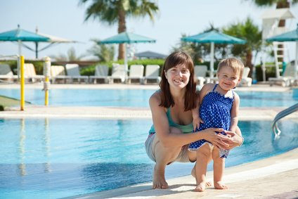 Ein kindergeeigneter Pool im Hotel - perfekt!