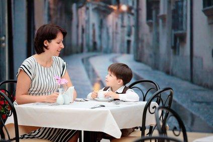 Dinner for two kann auch mit Kind Spaß machen
