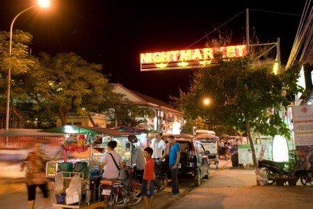 Straßenküchen sind zum Entdecken ideal - hier auf dem Nachtmarkt von Siem Reap