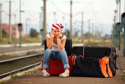 Familien haben oft viel Gepäck - kein Problem für die Bahn!