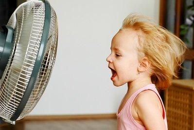 Ein Ventilator bietet Abkühlung und Spaß
