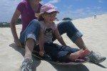 Ein Riesenspaß: Sandboarding auf Kangaroo Island © JudithQuick