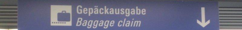 Gefahrenzone Gepäckausgabe