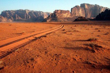 Das Wadi Rum in der jordanischen Wüste