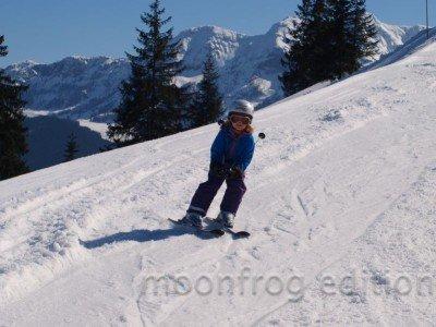 Ein kleiner Skiprofi