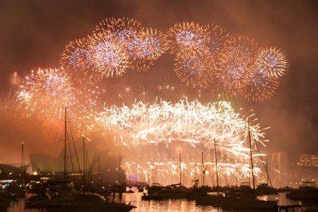 Das weltberühmte Feuerwerk in Sydney