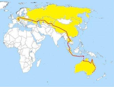Die (geplante) Reiseroute