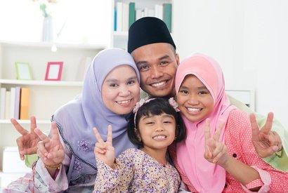 In Asien sind viele Menschen Muslime