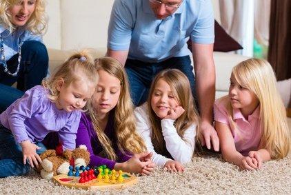 Ideal: wenn auch die Kinder Freude an ihren Gästen haben
