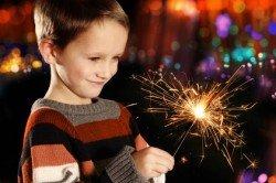 Die meisten Kinder finden Feuerwerke faszinierend