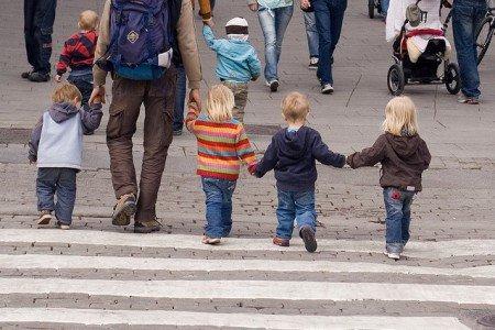 Kleine Kinder gehen im Getümmel schnell verloren