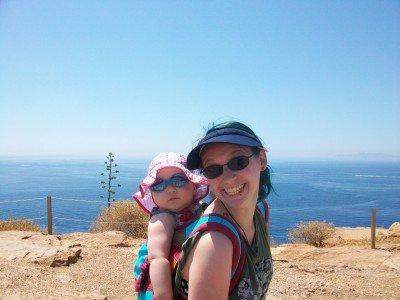Ich mit Töchterchen in Griechenland