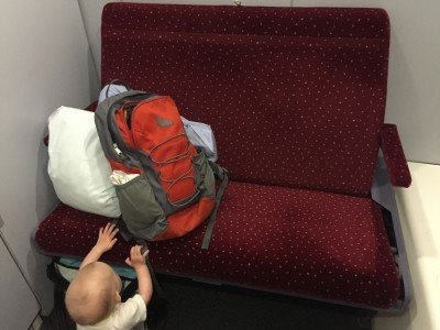 Tagsüber im Nachtzug - genug Platz für 2