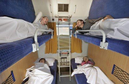 Das Liegeabteil für Familien im City Night Liner sieht nicht schlecht aus, oder? © Deutsche Bahn
