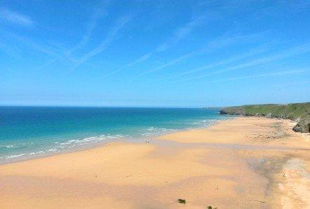 Die Watergate Bay ist nicht weit vom Sands Resort Hotel Cornwall entfernt