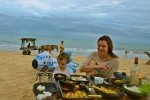 Julia Malchow am Strand von Trancoso in Brasilien © Unforgettable Journeys