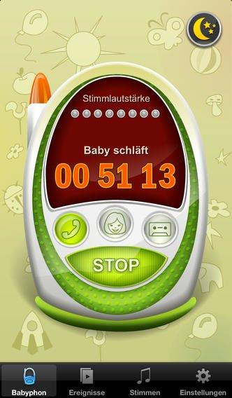 Die Babyphone-App für das iPhone © iTunes Store