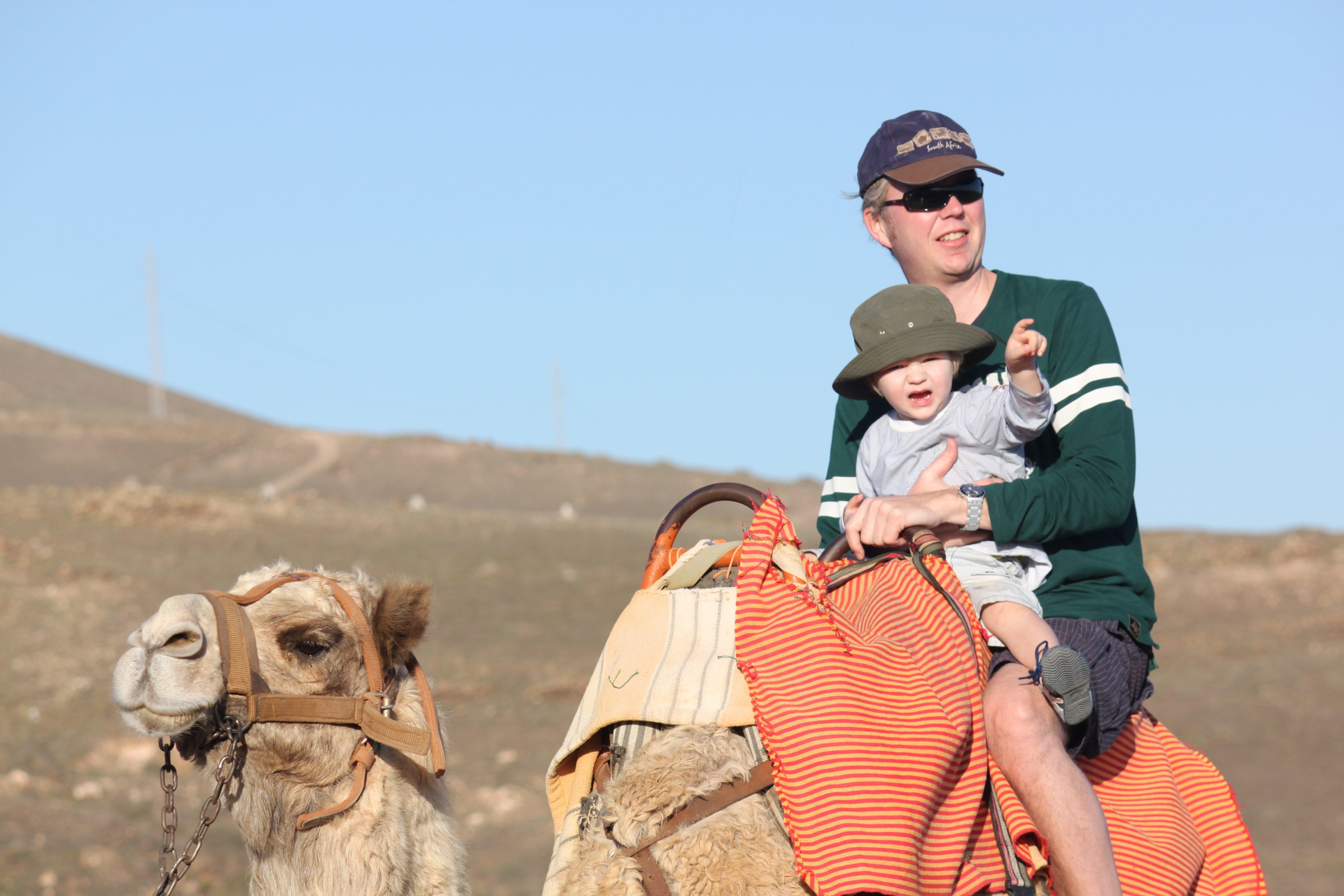 Kamelreiten mit Kind auf Lanzarote © KidsAway