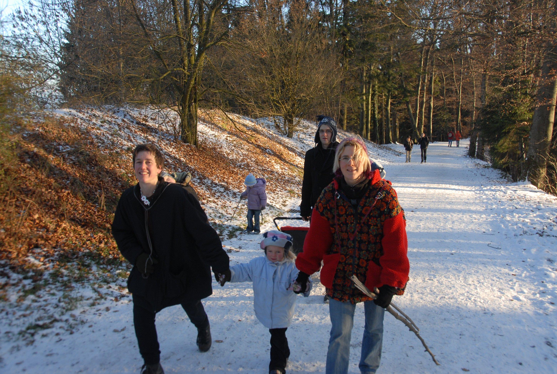 Mit Familie und Hackenporsche unterwegs