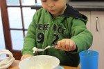 Fast überall gibt es zum Frühstück Porridge inklusive. Paul liebt es. © Kerstin