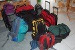 Unser gesammeltes Familien-Reisegepäck © Elternzeitreise