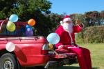 In Neuseeland kommt der Weihnachtsmann am 25.12. - auch auf dem Campingplatz © Elternzeitreise