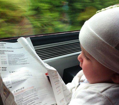 Bahnfahren mit Kind © Ilona Hartmann