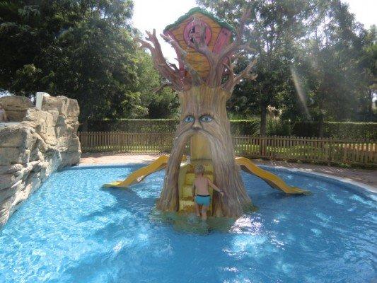 der tolle Wasserpark im Hotel