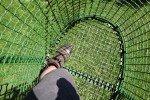 Das muss man ausprobieren! Von der Leiteralm wird man in einem Korblift nach unten transportiert. © Kaddy