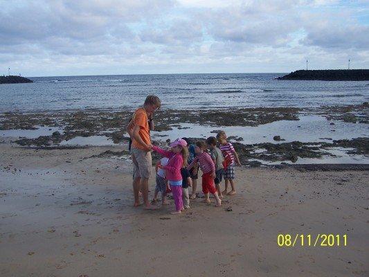 Kinderanimation am Strand von Lanzarote