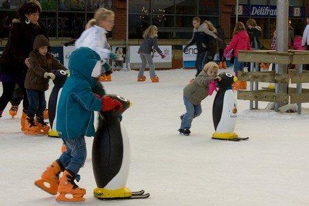 Einfach eislaufen lernen mit Pinguinen © FlickR/hans s