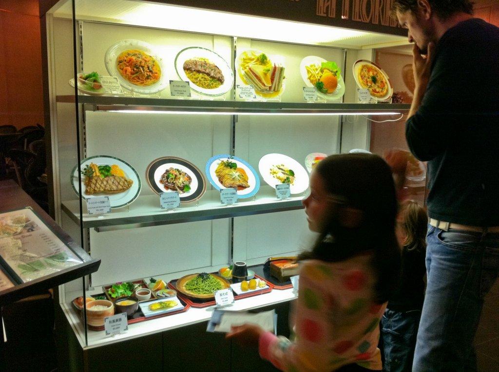 Toll, wenn man das Essen vorher sehen kann - in Japan ist das üblich © Weltwunderer