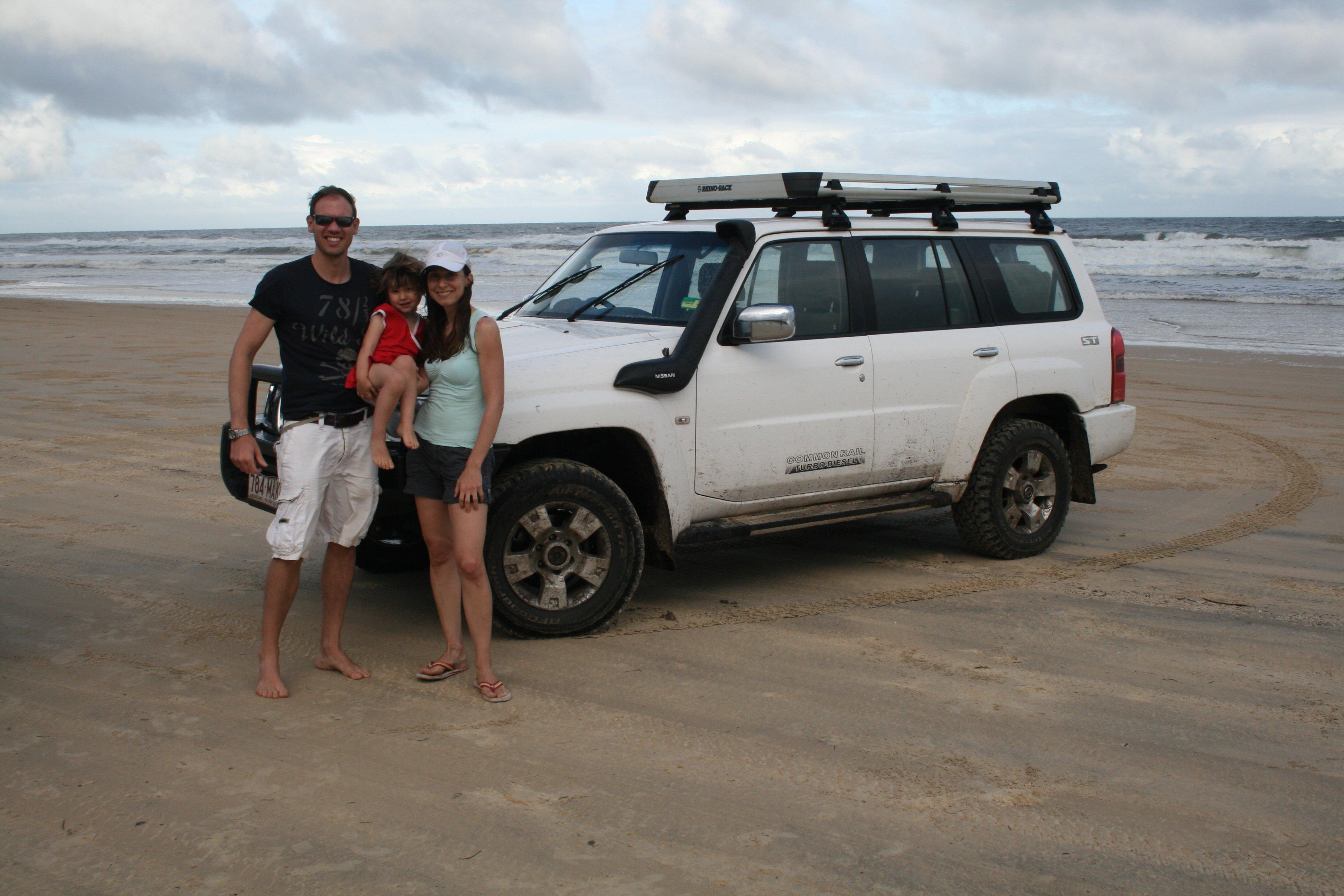 Das Rallye-Team Quick: Autofahren am Strand - möglich auf Fraser Island
