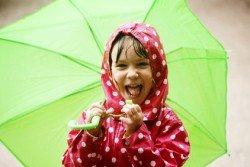 Singing in the rain? Die Laune muss sich jedenfalls keiner verderben lassen!