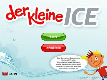 """Die neue Bahn-Kinder-App """"Der kleine ICE"""" © Bahn.de"""