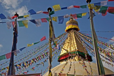 Die Bodhnath Stupa in Nepal © Jean-Marie Hullot - Fotopedia