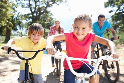 Unterwegs auf zwei Rädern - das macht Kindern Spaß!