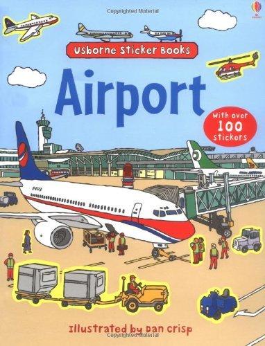 Flughafenbuch zum Spielen - Stickerbuch mit Magneten © Amazon.de